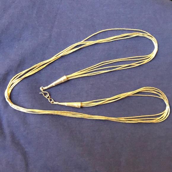 Jewelry - Silver liquid bead vintage necklace pristine